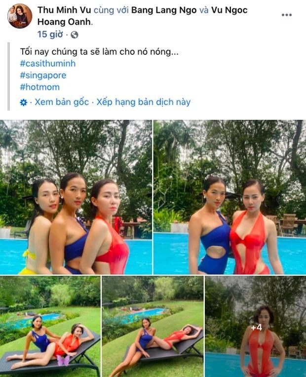 U45 Thu Minh body nức nở chặt đẹp Hoàng Oanh khi diện áo tắm