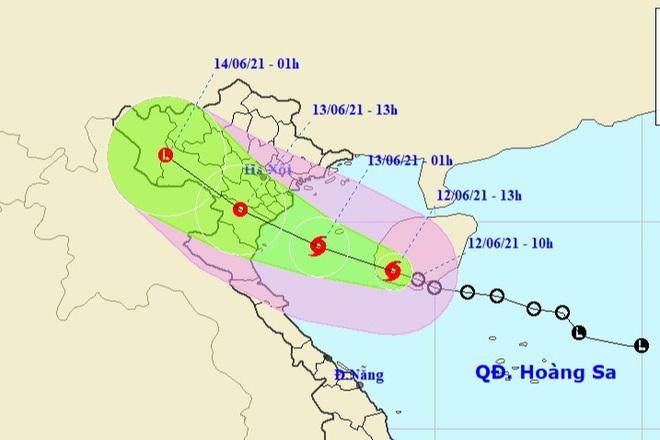 Bão số 2 với sức gió giật cấp 10 đang hướng vào Thái Bình